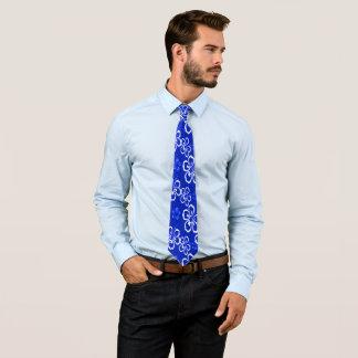Cravate hawaïenne bleue d'Armani de brise d'océan