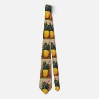 Cravate hawaïenne vintage d'ananas