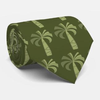 Cravate hawaïenne vintage de palmier