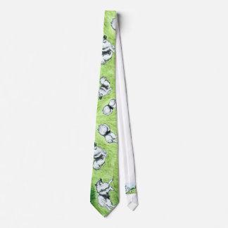 Cravate herbeuse de Keeshoden