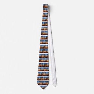 Cravate Hiver en bois de nature d'arbres de Sun de paysage