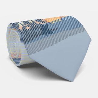 Cravate Île hawaïenne de grand coucher du soleil à simple