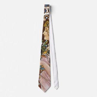 Cravate Illustration d'Alphonse Mucha