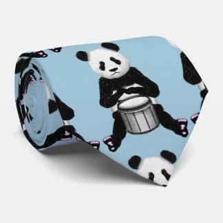 Cravate Illustration de tambour d'ours panda