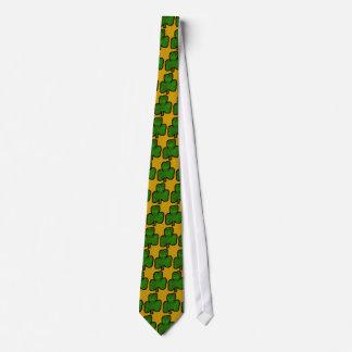 Cravate irlandaise de trèfle