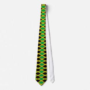 La Jamaïque Jamaïcain Grunge Drapeau Soie Polyester Cravate D35