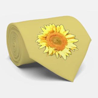 Cravate jaune-clair de tournesol