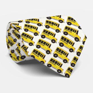 Cravate jaune d'école de professeur de chauffeur