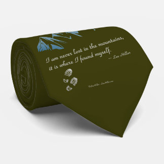 Cravate Je ne suis jamais perdu dans les montagnes, il est