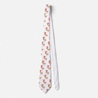 Cravate Joie de vacances de Noël de renne