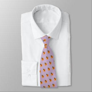 """Cravate """"Juste"""" pêche couleur pêche (pourpre pâle)"""