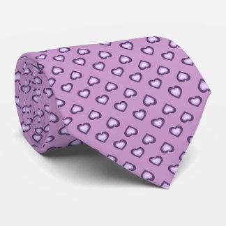 Cravate La lavande se fanent motif de coeurs