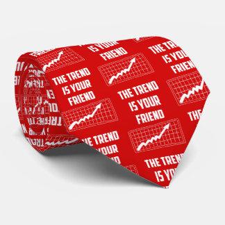 Cravate La tendance est vos commerçants de marché boursier