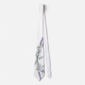 Cravate Lavande et eucalyptus