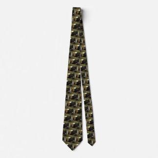Cravate Le bois sacré par Arnold Bocklin, art vintage