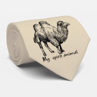 Cravate Le chameau est mon animal d'esprit