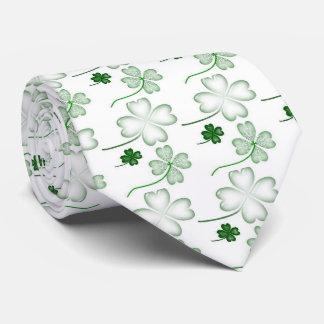 Cravate Le jour de St Patrick, trèfle vert, assez