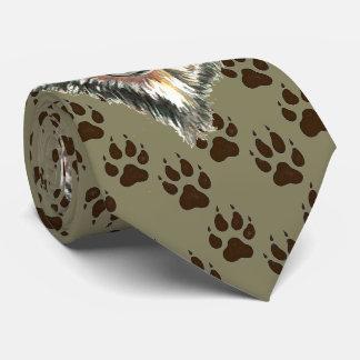 Cravate Le loup, animal sauvage de loups dépiste des