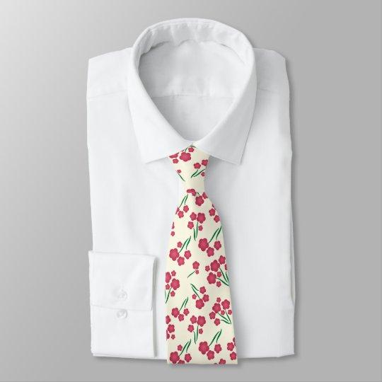 Cravate Le rose magenta de fleur de bulle fleurit le