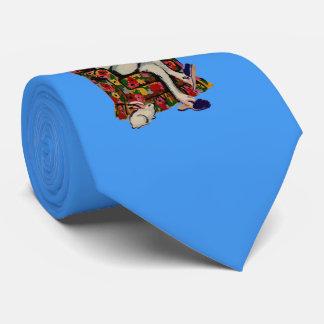 Cravate les années 1950 ont posé le grand lapin lit