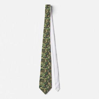 Cravate Les militaires camouflent le motif - vert jaune de