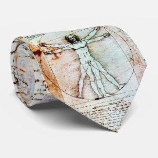 Cravate L'HOMME de VITRUVIAN, parchemin antique de Brown