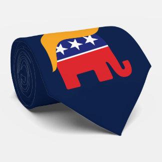 Cravate Logo d'éléphant de GOP de cheveux de Donald Trump