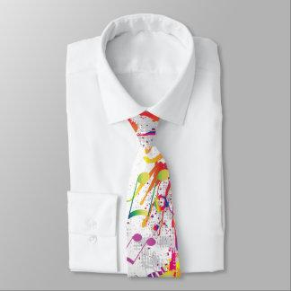 Cravate lumineuse colorée gaie de notes de musique
