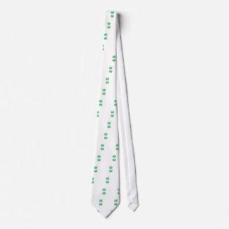 Cravate Mandala vert sur le blanc