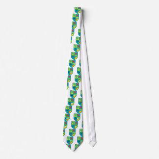 Cravate Manteau des raisins de bras et de bouclier de