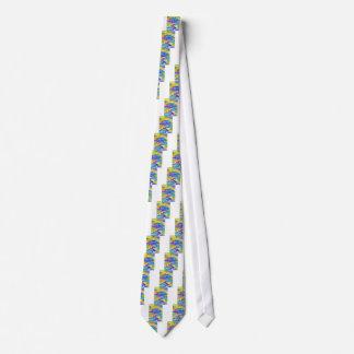Cravate Marais abstrait