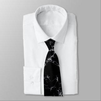 Cravate Marbre élégant style4 - noir et blanc