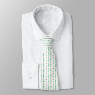 Cravate Mariage vert et blanc de lis de paix