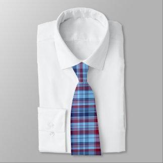Cravate Marine Bourgogne Madras de très bon goût de bleu