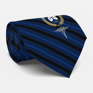 Cravate Marine de coutume de thérapeute respiratoire du