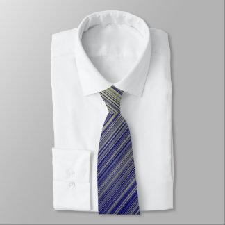 Cravate Marine et ligne jaune motif de gradient
