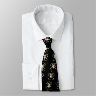 Cravate Masque coloré de farceurs de mardi gras