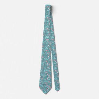 Cravate modelée par aqua d'oiseau de chant de