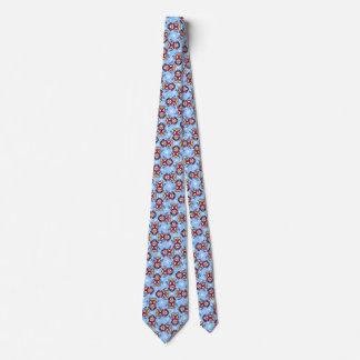 Cravate modelée par blanc bleu d'oiseau de
