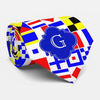 Cravate Monogramme royal de Quatrefoil de drapeaux de