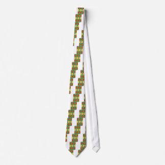 Cravate Motif coloré de point de kaléidoscope