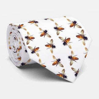 Cravate Motif d'abeille de miel