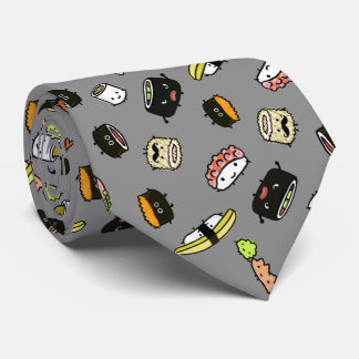 Cravate Motif de caractères de sushi
