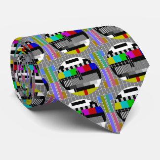 Cravate Motif de fermeture de carte d'essai de télévision
