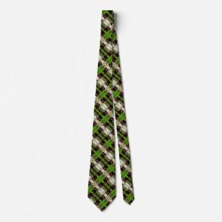 Cravate Motif de Foulard de satin de chien de fête des