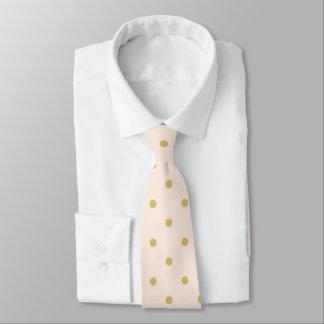 Cravate Motif de pois Girly moderne de rose et d'or