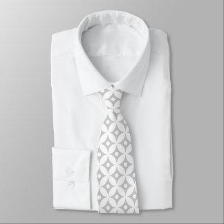 Cravate Motif de pois gris et blanc moderne de cercle