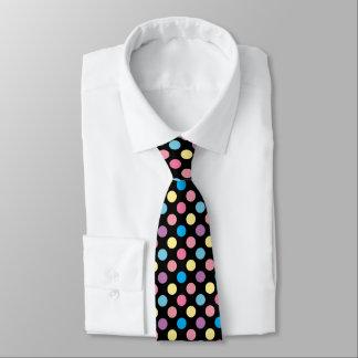 Cravate Motif de pois mou coloré de couleurs en pastel