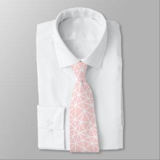 Cravate Motif géométrique blanc rose Girly de rayures
