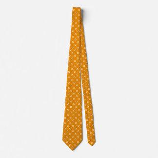 Cravate Motif orange de conception de taches de point de